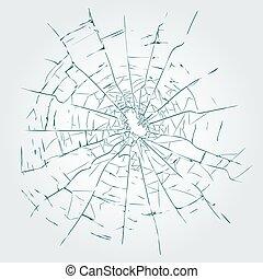 Cracks, broken glass vector