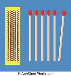 Box and matches - Image representing a box and matches icon...