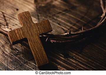 cross and crown of thorns of Jesus Christ