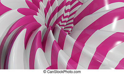 3D Illustration Abstract Caramel Background