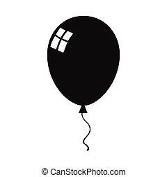Balloon Black Silhouette Icon