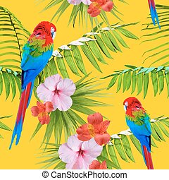 Exotic tropical summer decoration seamless pattern