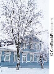 A family blue home