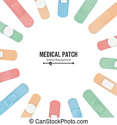 Medical Patch Vector. First Aid Band Plaster Strip Medical...