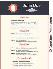 modern design template of CV