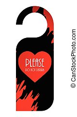 door knob - Please do not disturb door knob hanger