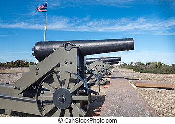 Ft Macom Cannons - Cannons at the Old Civil War Fort Macom...