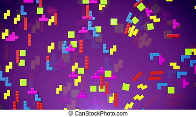 """Tetris game figures fall down"" - ""Tetris game figures fall..."