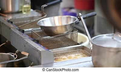 in the kitchen cooking process - process of cooking in the...