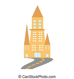 building architecture urban road vector illustration eps 10