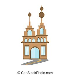 building trendy structure road vector illustration eps 10