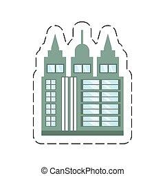 cartoon building skyscraper icon