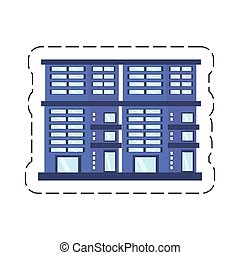 cartoon building residential town