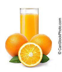 Orange juice and oranges