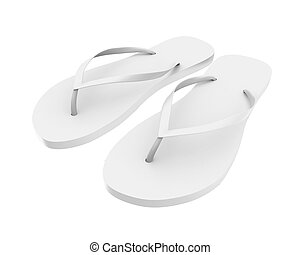 Flip Flops Isolated - Flip Flops isolated on white...