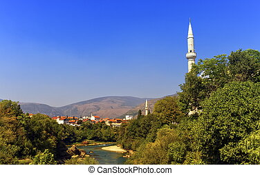 Mostar old city, Bosnia and Herzegovina - View of old city...