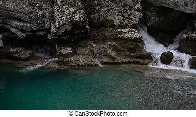 Cijevna river in Montenegro, slow motion