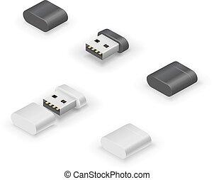 USB stick flash drive - USB thumb size flash drive or...