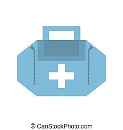 first aid kit case vector illustration eps 10