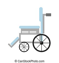 wheelchair medical equipment icon vector illustration eps 10