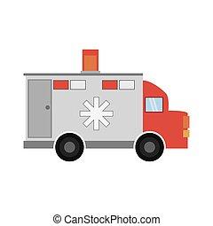 ambulance transport emergency icon vector illustration eps...