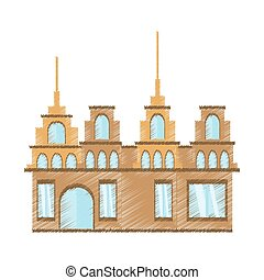 drawing building trendy structure