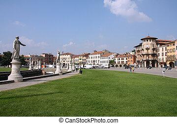 Padua, Italy. Famous town square - Prato Della Valle.