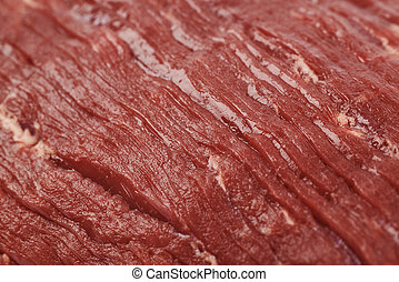 Beef meat texture - Fragment of a beef meat texture as a...