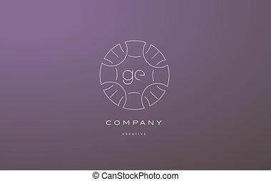 ge g e monogram floral line art flower letter company logo...