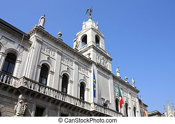 Padua, Italy City Hall in Palazzo Moroni, famous old...