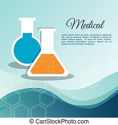 medical laboratory test tube vector illustration eps 10
