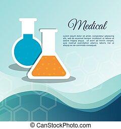 medical laboratory test tube vector illustration eps 10