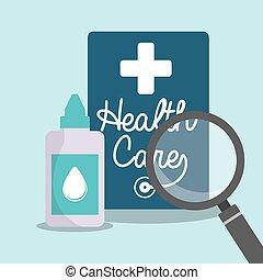 health care eyedropper bottle search vector illustration eps...