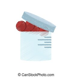 drawing container medication healthy care vector...