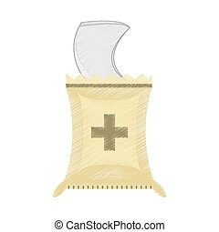 drawing plastic bag sterile supplies vector illustration eps...