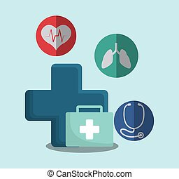 medical first aid kit vector illustration eps 10