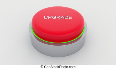 Big red button with upgrade inscription being pushed....