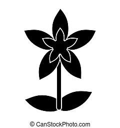 flower tropical exotic pictogram