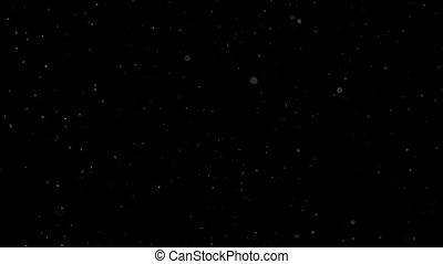 Dust particles 2 defocused bokeh blur composite