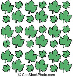 green leaves grape seamless pattern design