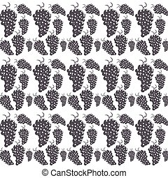 bunch grapes seamless pattern design vector illustration eps...