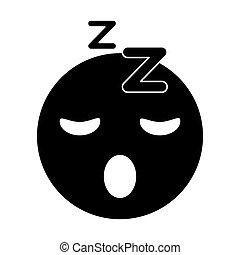 sleepy emoticon funny pictogram