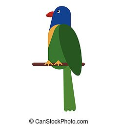 parrot exotic bird nature vector illustration eps 10