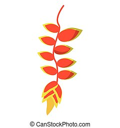 トロピカル, 植物, 花, アイコン