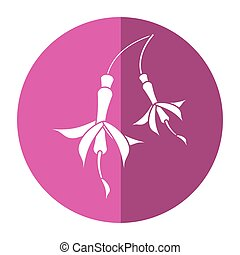 flower petal natural icon shadow