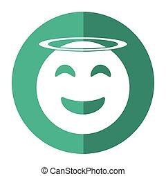 angel emoticon style icon shadow