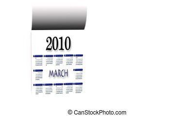 New Year 2010-2011 calendar - Loopable New Year 2010-2011...