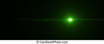 Lens flare effect. 3D rendering - Green lens flare effect in...