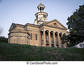 Old Vicksburg courthouse in Mississippi of the USA