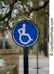 Active Wheel Chair Sign directs to an accessible path